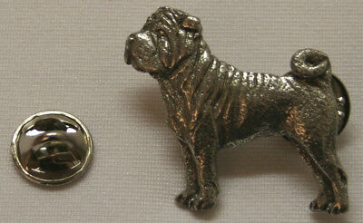Shar Pei Dog Fine PEWTER PIN Jewelry Art USA Made