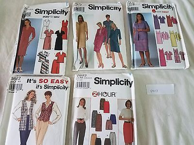 Sewing Patterns Mixed Lot of 5 Simplicity Complete P017 Free Ship