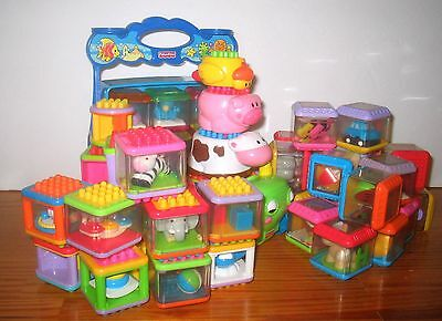 Peek A Blocks Lot Pegged SeaLife Farm Tractor AGES 1+ Fisher Price