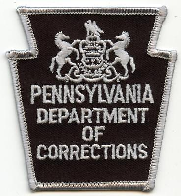 """Pennsylvania Department of Corrections Subdued Police Officer 3.25"""" Patch LEO"""