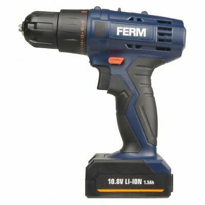 Ferm Cordless 12v Li-Ion Drill Twin 1.5Ah Battery Quick Charge 13mm Screwdriver
