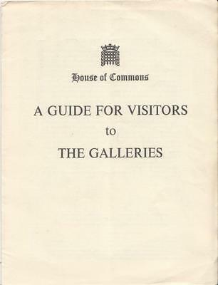 House of Commons: A Guide for Visitors to The ... - Acceptable - Pamphlet