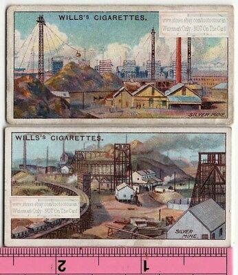 Lot of 2  Broken Hills Silver Mine New South Wales Australia 100 Y/O Trade Cards