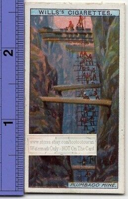 Mining Graphite Plumbago Mineral  In Ceylon 100+ Y/O Trade Ad Card