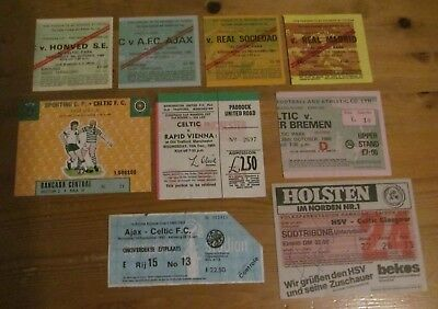 Job Lot    Collection Of Celtic Fc   Home +  Away  Tickets  In  Europe  1980S