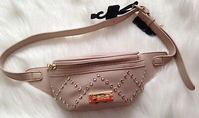 New Womens BEBE Gemma Blush Faux Leather Fanny Pack Bag Purse MSRP $69 (A9)