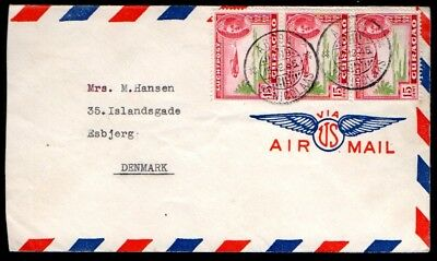 Aruba: 1946 Airmail cover to Denmark from St. Nicolaas