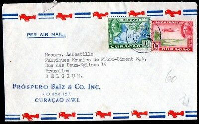 Curaçao: 1946 cover to Belgium from Willemstad