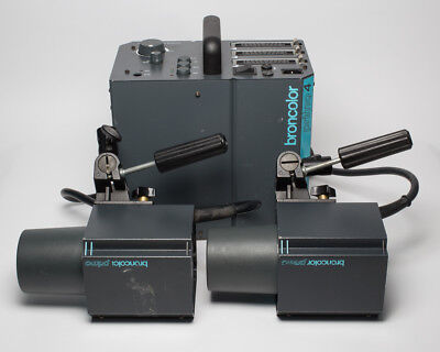 Broncolor Primo4 Power Pack W/ 2x Primo Heads 3200 w/s Studio Flash Pulso scoro