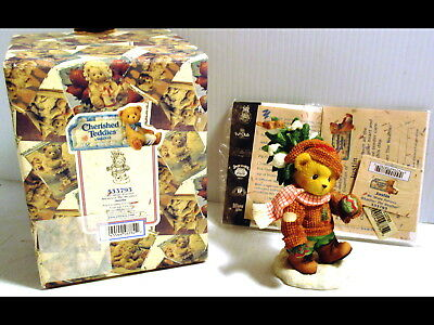 1999 Cherished Teddies Figure WE SHARE FOREVER WHATEVER THE WEATHER Christmas
