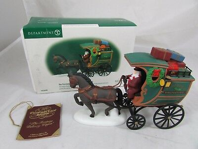 Dept 56 Heritage  Dickens Village The Fezziwig Delivery Wagon Revisited? In Box
