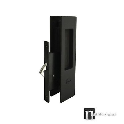 Sliding Door Lock Privacy Handle Set  (2024) - Matt Black Handles