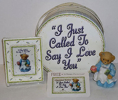 Cherished Teddies Mother's Day Figurine Gift Box NEW # 797170 Just Called Love