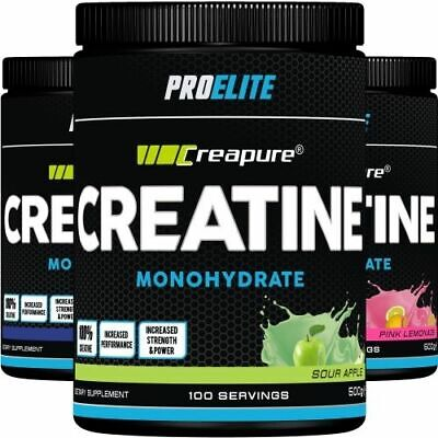 100% Pure Creapure® - Creatine Monohydrate Powder (250g / 500g / 1kg) PRO ELITE