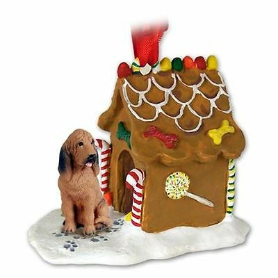 BLOODHOUND Dog Ginger Bread House Christmas ORNAMENT