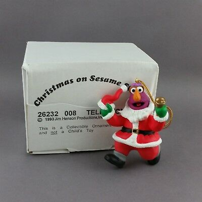 Sesame Street Telly Monster Christmas Ornament by Grolier with Box