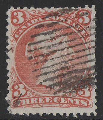 MOTON114   #25a Large Queen 3c  Canada used