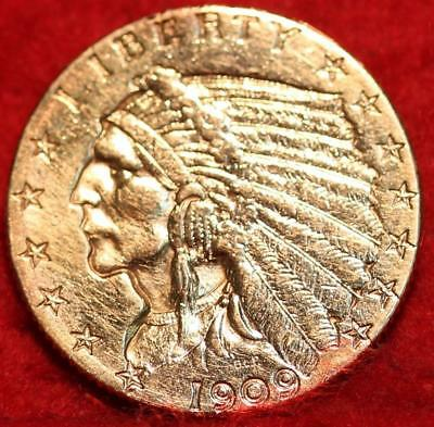 1909 Philadelphia Mint Gold $2.50 Coin Free Shipping