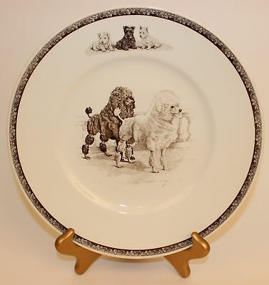 "Wedgwood Non Sporting Dog Plate ""march Winds"" Poodles"