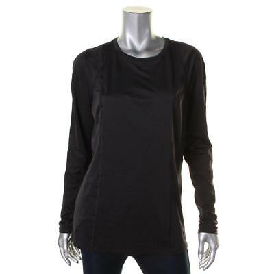 Tommy Hilfiger 0462 Womens Black Stretch Lined Long Sleeves Pullover Top L BHFO
