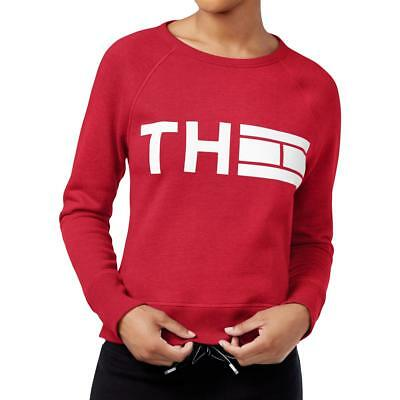 Tommy Hilfiger 2439 Womens Graphic Crew Neck Long Sleeve Sweatshirt Top BHFO