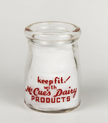 RARE McCue's Dairy Creamer KEEP FIT Long Branch NJ red Pyro ACL glass