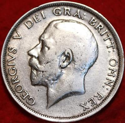 1915 Great Britain 1/2 Crown Silver Foreign Coin Free S/H
