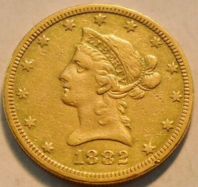 1882 O $10 Gold Liberty Eagle Higher Grade Details Ten Dollar Scarce New Orleans
