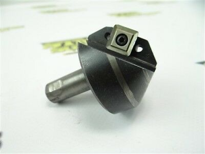 """Indexable Chamfering Mill 1-3/4"""" Diameter 1/2"""" Shank"""
