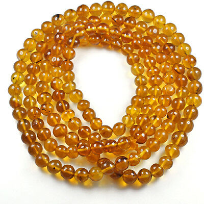 29.35g 100% Natural Mexican Golden Amber Bead Bracelet Necklace CSFb518