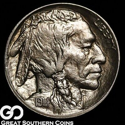 1914 Buffalo Nickel, Very Nice Solid Gem BU++