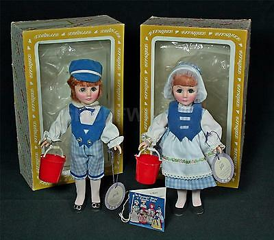 Vintage Effanbee Jack And Jill Collectible Dolls 1975