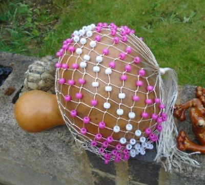 Traditional Natural Gourd Shekere colourful, fab sound, 28cm by 71cm
