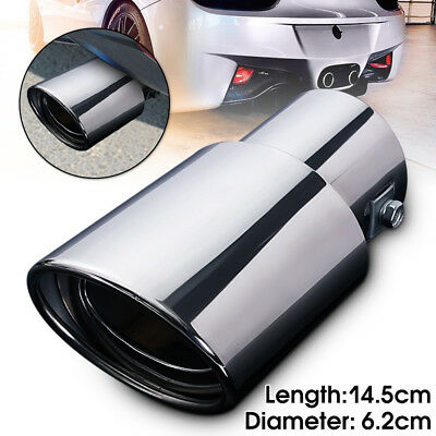 Universal Stainless Steel Chrome Car Tail Rear Straight Exhaust Muffler Pipe Tip