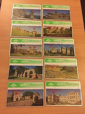 Collectable Phonecards. BT Cards. English Heritage
