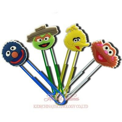 20pcs Sesame Street Paper Clips Bookmarks DIY Office School Clips Binder as Gift