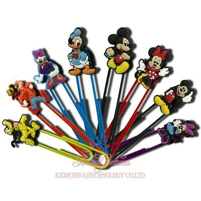 20pcs Mickey Paper Clips Bookmarks DIY Office School Clips Binder Kids Xmas Gift