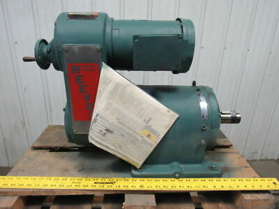 Reliance Electric Reeves B123 47:1 1Hp 230/460V 10-89 RPM Output Gear Drive