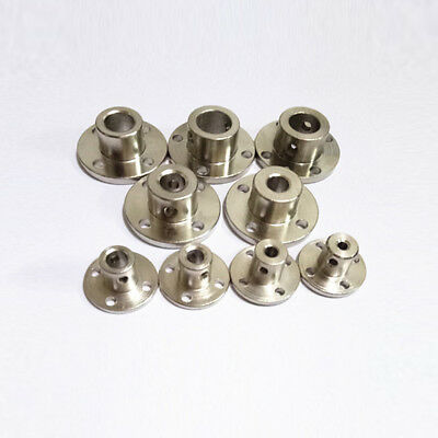 3/4/5/6/12mm Rigid Flange Coupling Motor Guide Shaft Coupler Metal Bearing Seat