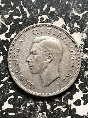 1939 Great Britain 1/2 Crown Half Crown Lot#X1047 Silver!
