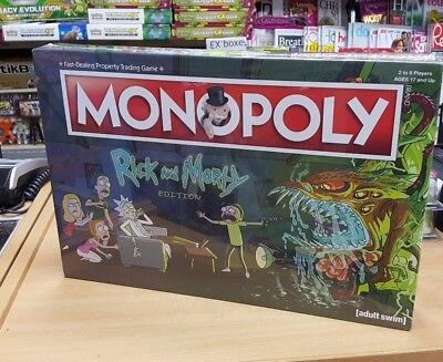 NEW: Limited Edition Rick and Morty Monopoly + 6 Special Tokens