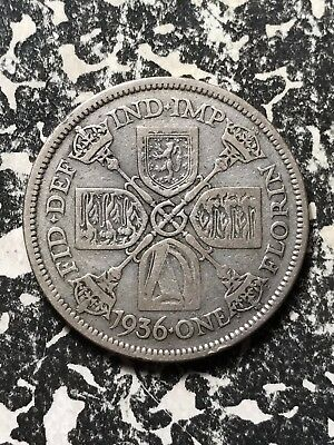 1936 Great Britain 1 Florin Lot#X1050 Silver!