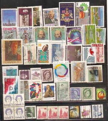 a stock page of recent used stamps from Canada.(cda-6)