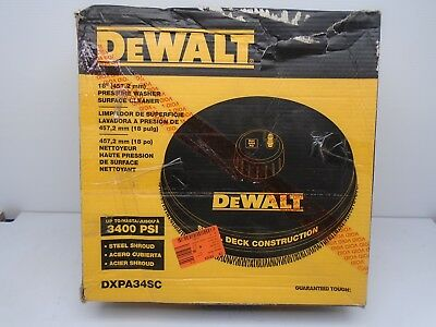 "DEWALT DXPA34SC 18"" 3400 PSI Surface Cleaner with Quick Connect Plug 117TO"