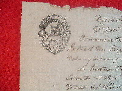18th century French untranslated Signed document,Expedition PICTURE Seal