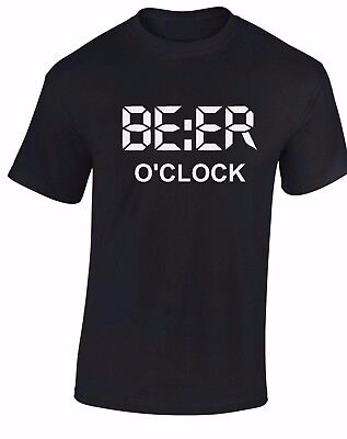08a6428225 Beer O Clock Mens T Shirt Funny Birthday Fathers Day Joke Novelty Top S-XXXL