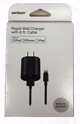OEM Verizon Lightning Travel Rapid Wall Charger for iPhone ipod,ipad