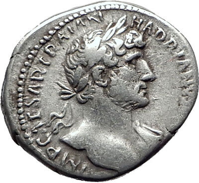 HADRIAN 119AD Silver Authentic Genuine Ancient Roman Coin PIETAS i65391