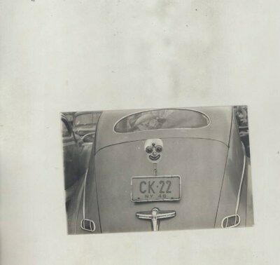 1941 ? Lincoln Zephyr Rear View ORIGINAL Photograph wy8179