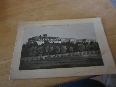 Jersey Coffee card of CHAPULTPES CASTLE IN MEXICO frm Dayton,Ohio -1930's?